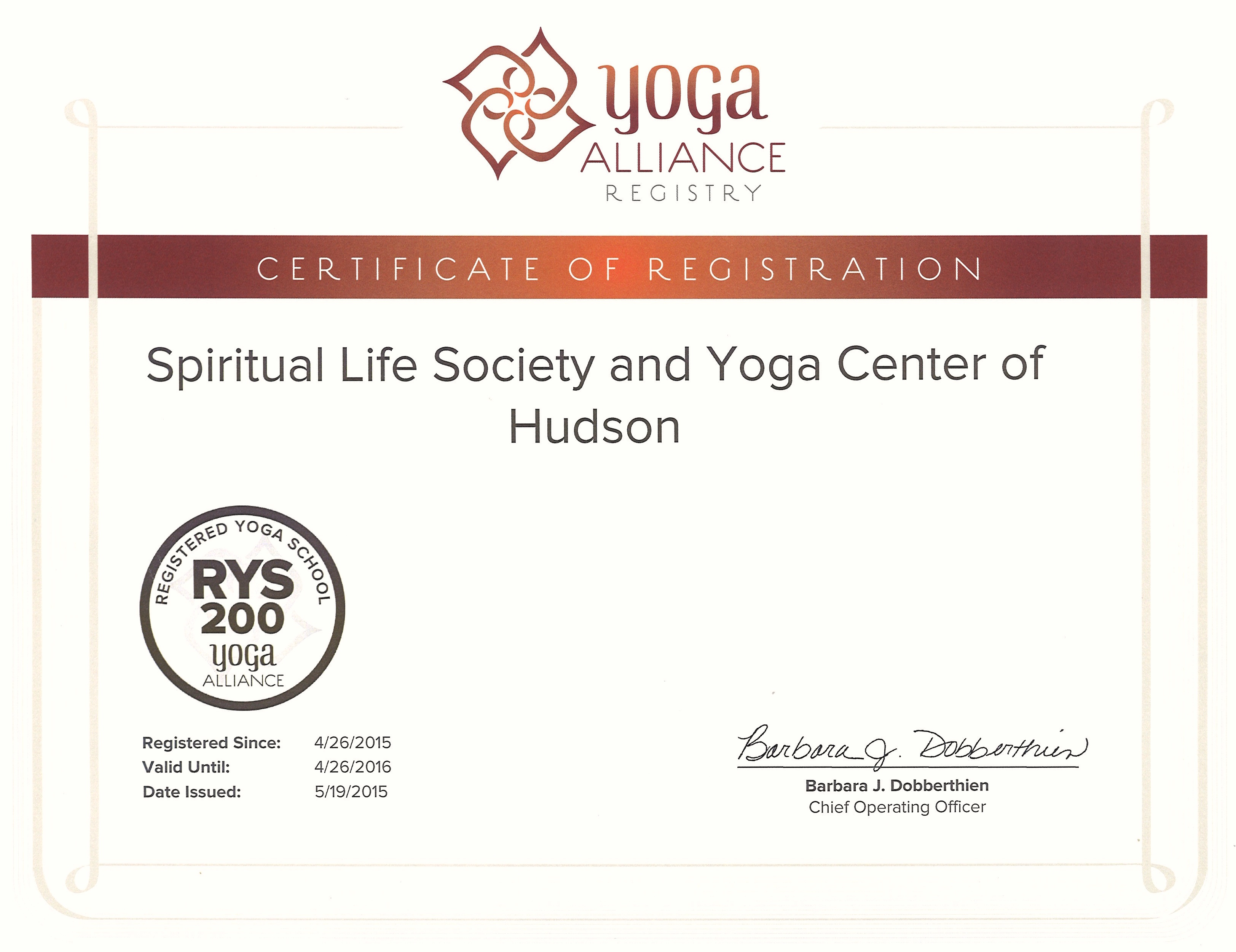 Application form yogateacher one of our earlier rys 200 certificates from yogaalliance for our teacher training program yadclub Image collections